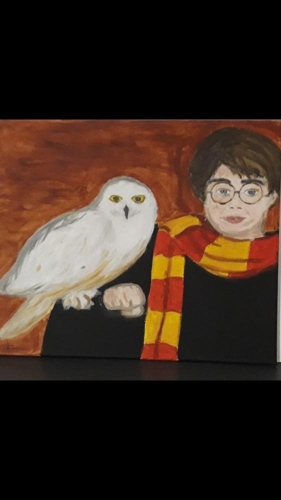 Daniel Radcliffe, Hedwig (Harry Potter) par nat01